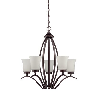 Grampian 5-Light Shaded Chandelier Finish: Aged Bronze Brushed