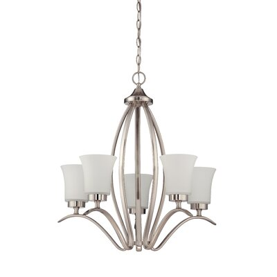 Northlake 5-Light Shaded Chandelier Finish: Satin Nickel