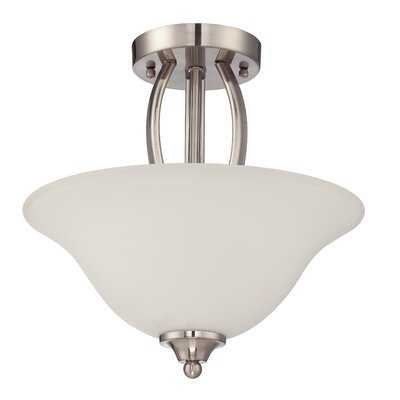 Grampian 2-Light Semi Flush Mount Finish: Satin Nickel