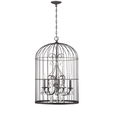 Irfan 5-Light Foyer Pendant Finish: Valencian Iron