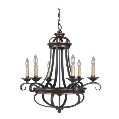 Stafford 6-Light Candle-Style Chandelier