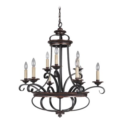 Stafford 9-Light Candle-Style Chandelier