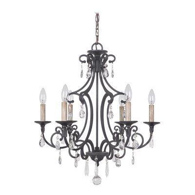 Vanderbilt 6-Light Crystal Chandelier