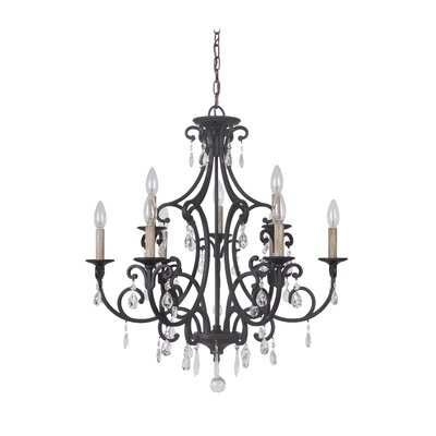 Vanderbilt 9-Light Crystal Chandelier