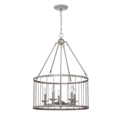 Villa 5-Light Foyer Pendant Finish: Satin Nickel