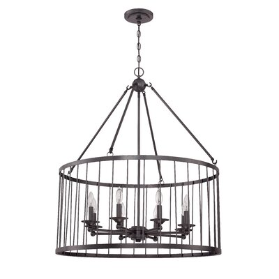 Villa 8-Light Foyer Pendant Finish: Black Iron