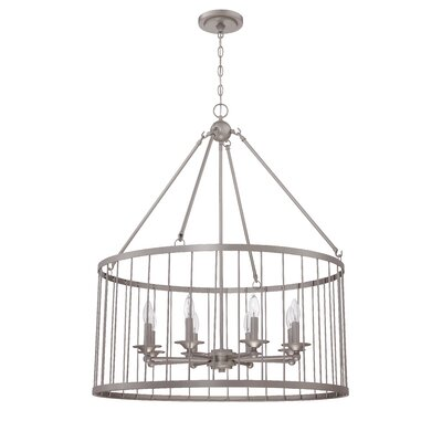Villa 8-Light Foyer Pendant Finish: Satin Nickel