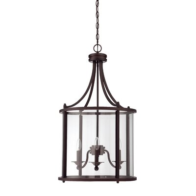 Carlton 3-Light Foyer Pendant Finish: Aged Bronze Brushed