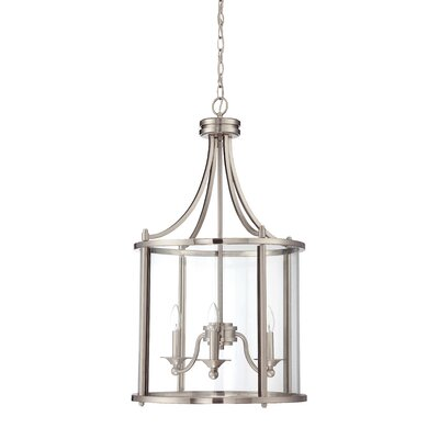 Arshan 3-Light Foyer Pendant Finish: Brushed Polished Nickel