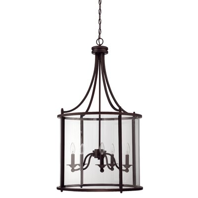 Arshan 5-Light Foyer Pendant Finish: Aged Bronze Brushed