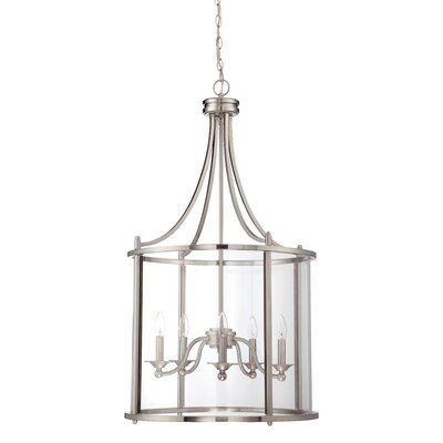 Arshan 5-Light Foyer Pendant Finish: Brushed Polished Nickel