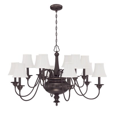 Beaumont 12-Light Shaded Chandelier