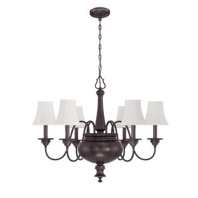 Beaumont 6-Light Shaded Chandelier