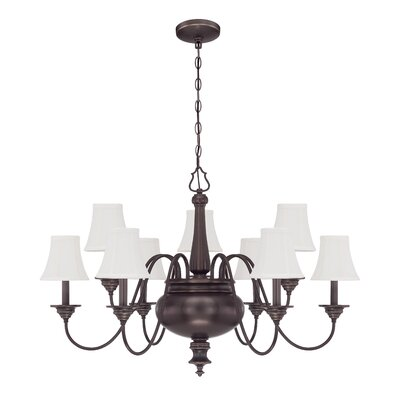 Beaumont 9-Light Shaded Chandelier
