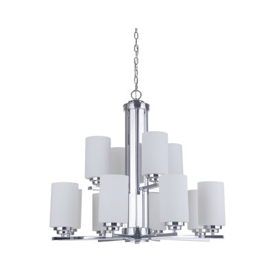 Keisuke 12-Light Shaded Chandelier Finish: Chrome