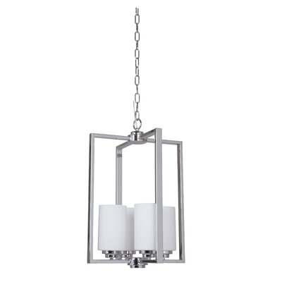 Keisuke 4-Light Foyer Pendant Finish: Chrome