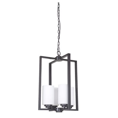 Keisuke 4-Light Foyer Pendant Finish: Oiled Bronze
