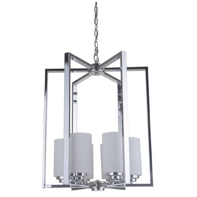 Keisuke 6-Light Foyer Pendant Finish: Chrome
