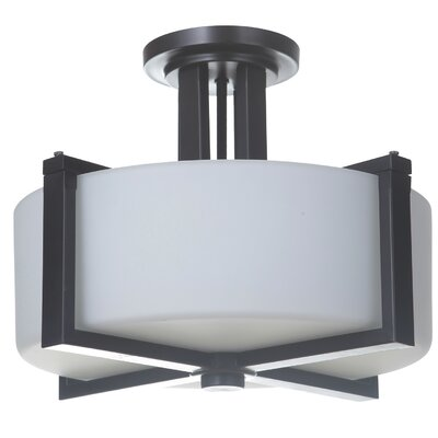 Keisuke 3-Light Semi Flush Mount Finish: Oiled Bronze