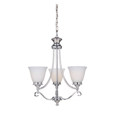 Osbourn 3-Light Shaded Chandelier Finish: Chrome