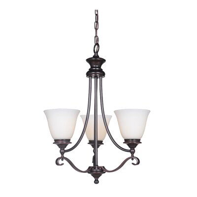 Osbourn 3-Light Shaded Chandelier Finish: Oil Bronze