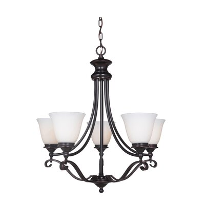 Osbourn 5-Light Shaded Chandelier Finish: Oil Bronze