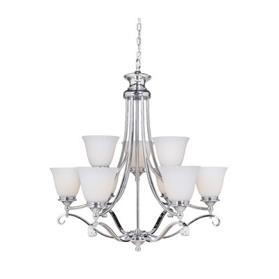 Chelsea 9-Light Shaded Chandelier Finish: Chrome