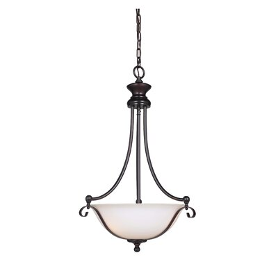 Osbourn 3-Light Inverted Pendant Finish: Oil Bronze
