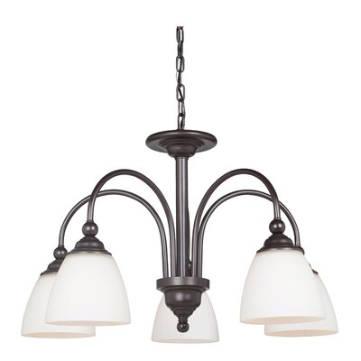 Alvan 5-Light Shaded Chandelier Finish: Espresso