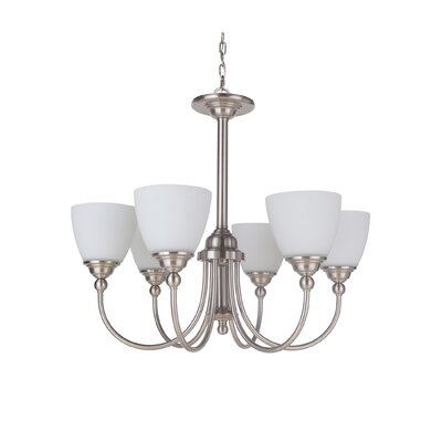 Alvan 6-Light Shaded Chandelier Finish: Espresso