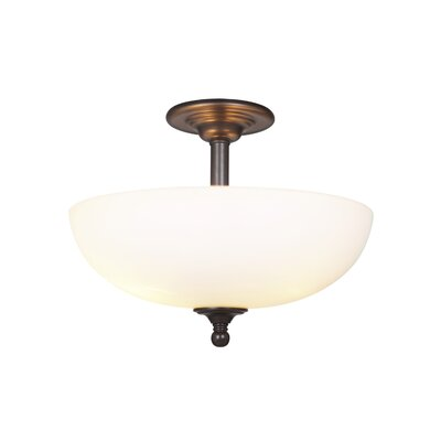 Alvan 3-Light Semi Flush Mount Finish: Espresso