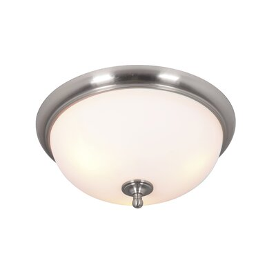 Alvan 3-Light Flush Mount Finish: Brushed Polished Nickel