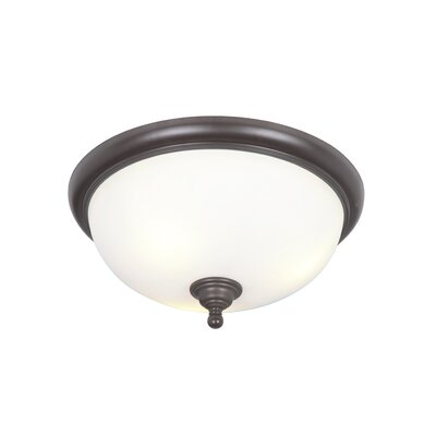 Alvan 3-Light Flush Mount Finish: Espresso