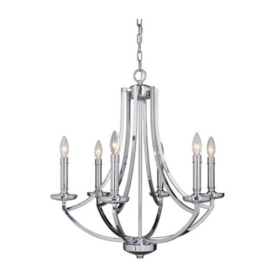 Rockville 6-Light Candle-Style Chandelier Finish: Chrome
