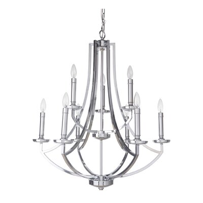 Rockville 9-Light Candle-Style Chandelier Finish: Chrome