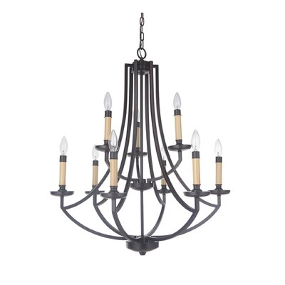 Rockville 9-Light Candle-Style Chandelier Finish: Oil Bronze Gilded