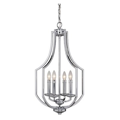 Rockville 4-Light Foyer Pendant Finish: Chrome