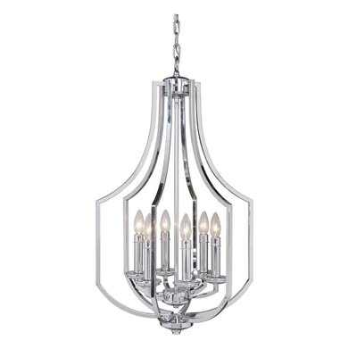 Rockville 6-Light Foyer Pendant Finish: Chrome