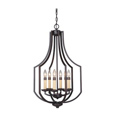 Hayden 6-Light Foyer Pendant Finish: Oil Bronze Gilded