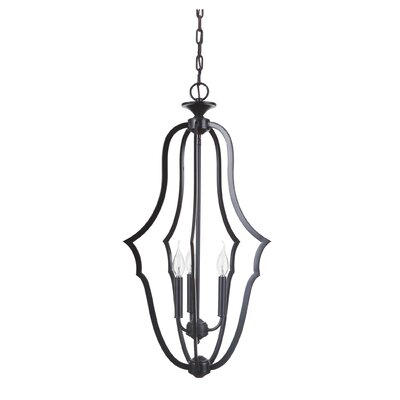 Gabriella 3-Light Foyer Pendant Finish: Matte Black