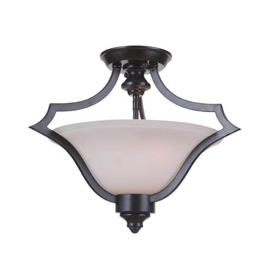 Cohee 3-Light Semi Flush Mount Finish: Matte Black