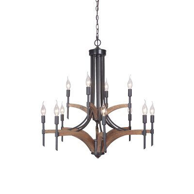 Polen 12-Light Candle-Style Chandelier Finish: Espresso