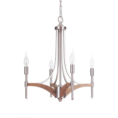Tahoe 4-Light Candle-Style Chandelier Finish: Brushed Nickel