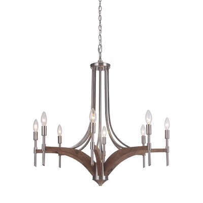 Polen 8-Light Candle-Style Chandelier Finish: Brushed Nickel