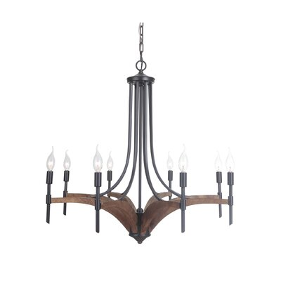 Polen 8-Light Candle-Style Chandelier Finish: Espresso
