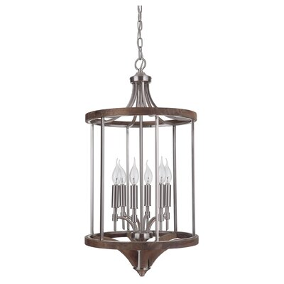 Polen 6-Light Foyer Pendant Finish: Brushed Nickel