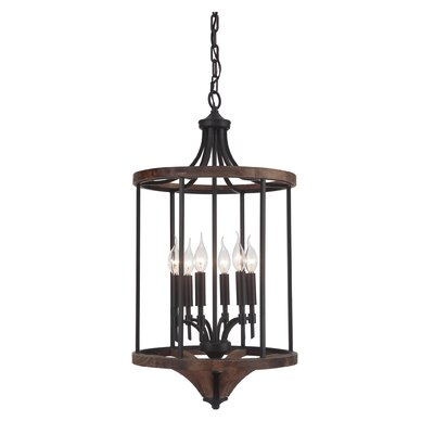 Tahoe 6-Light Foyer Pendant Finish: Espresso