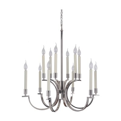 Crescent 12-Light Candle-Style Chandelier