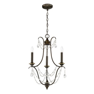Edelina 3-Light Candle-Style Chandelier Finish: Legacy Brass