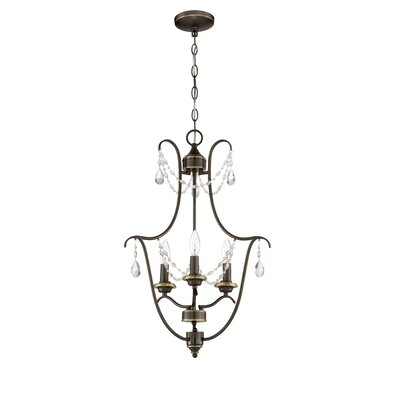 Edelina 3-Light Foyer Pendant Finish: Legacy Brass